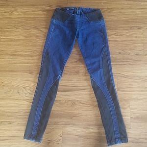 Low-rise Dark Blue Jeans - Bershka